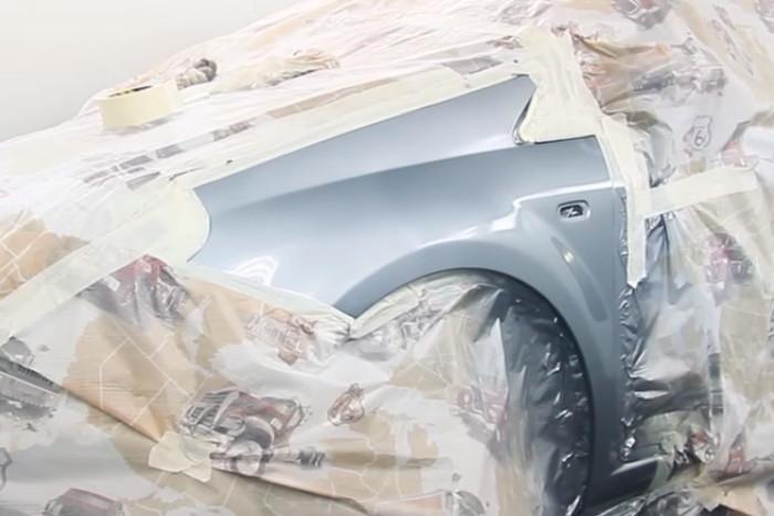 Фото крыла после покраски