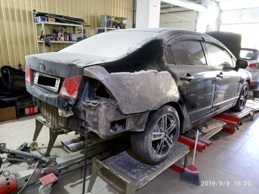 Honda Civic фото до ремонта