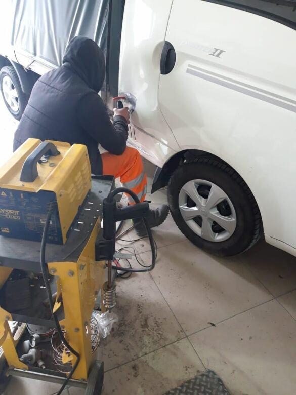 Hyundai Porter фото процесс восстановления геометрии