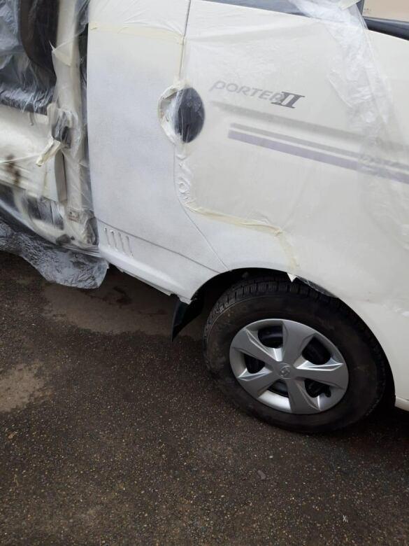Hyundai Porter фото ремонт вмятин