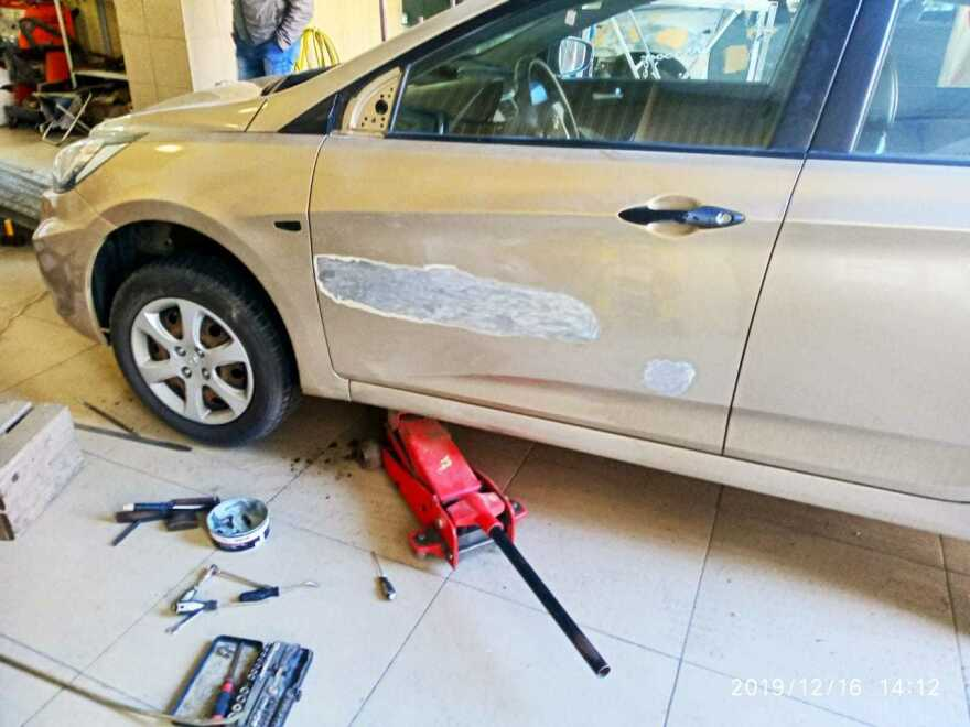 Hyundai Solaris фото до ремонта