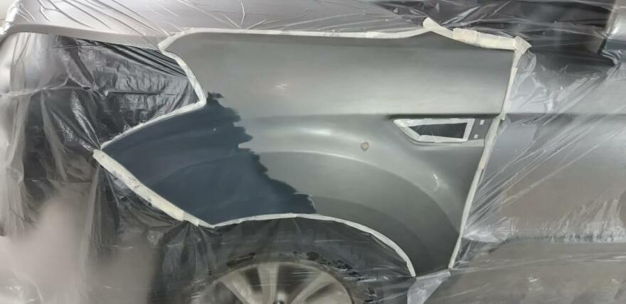 Kia Soul фото процесс ремонта крыла