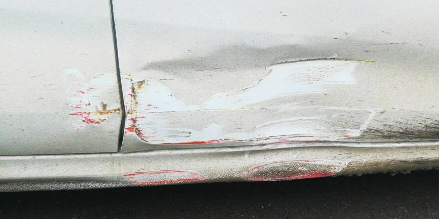 Kia Rio фото до ремонта