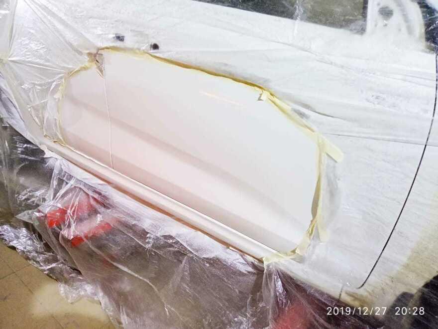 Kia Rio фото ремонт дверей в автосервисе