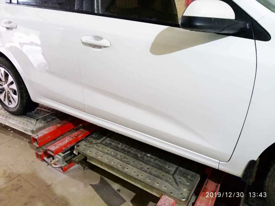 Kia Rio фото результат ремонта в автосервисе