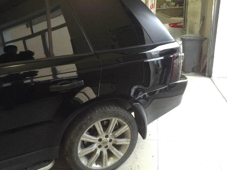 Land Rover фото процесс ремонта крыла