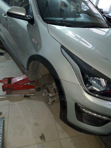 Kia Rio ремонт и покраска крыла