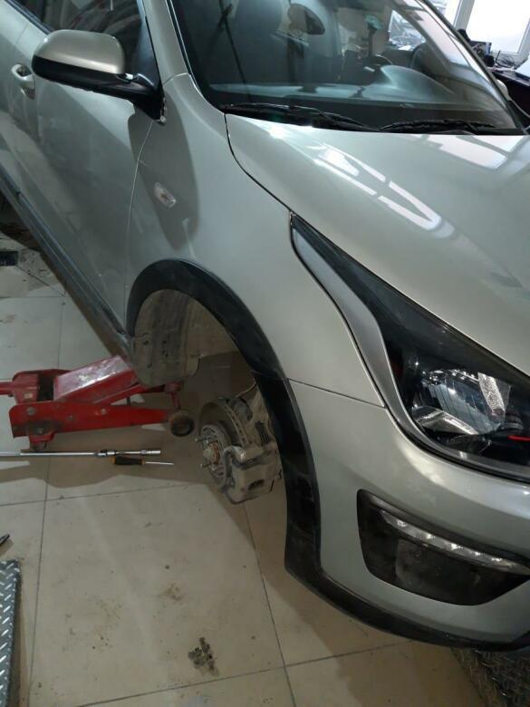 Kia Rio фото после ремонта в автосервисе