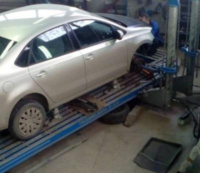 Комплексное восстановление геометрии кузова автомобиля на стенде