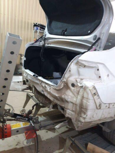 Nissan Teana восстановление багажника