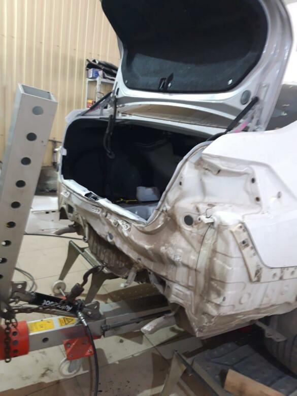 Nissan Teana фото процесс ремонта багажника