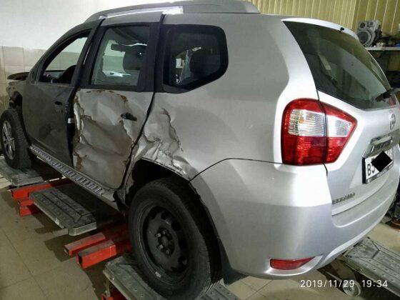 Nissan Terrano восстановление геометрии кузова