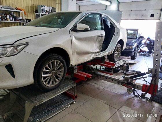 Toyota Camry комплексный кузовной ремонт